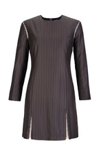 Load image into Gallery viewer, Runaway for tea pinstripe mesh dress