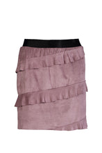 Load image into Gallery viewer, Cranberry cupcake faux suede miniskirt