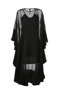 Aura Long Flared Dress