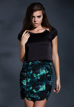 Load image into Gallery viewer, The secret garden ruched floral pencil skirt