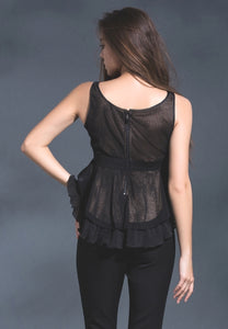 Love the shade ruffle top