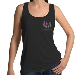 Initial Wreath Womens Singlet