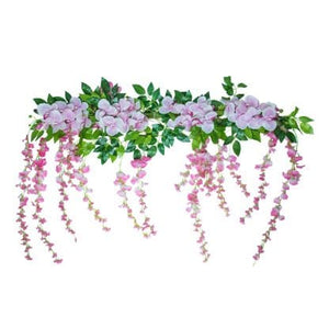 Artificial Orchid and Wisteria Edging – 1m
