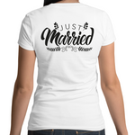Load image into Gallery viewer, Just Married V-Neck T-Shirt