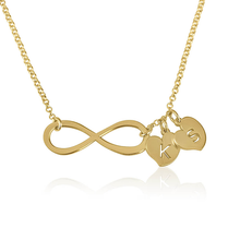 Load image into Gallery viewer, Infinity Necklace with Initials