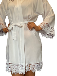 Personalised Bridal Lace Robe