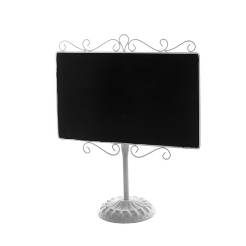 White Table Top Metal Chalkboard