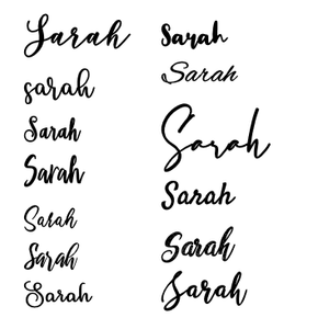 Decal - Personalised Name/Sayings