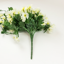 Load image into Gallery viewer, White Violet Bunch With Hanging Stem