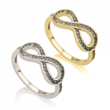 Load image into Gallery viewer, Cubic Zirconia Infinity Ring