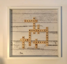 Load image into Gallery viewer, Handmade Family Crossword Frame
