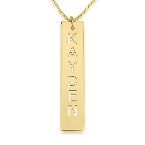 Bar Pendant Name Necklace