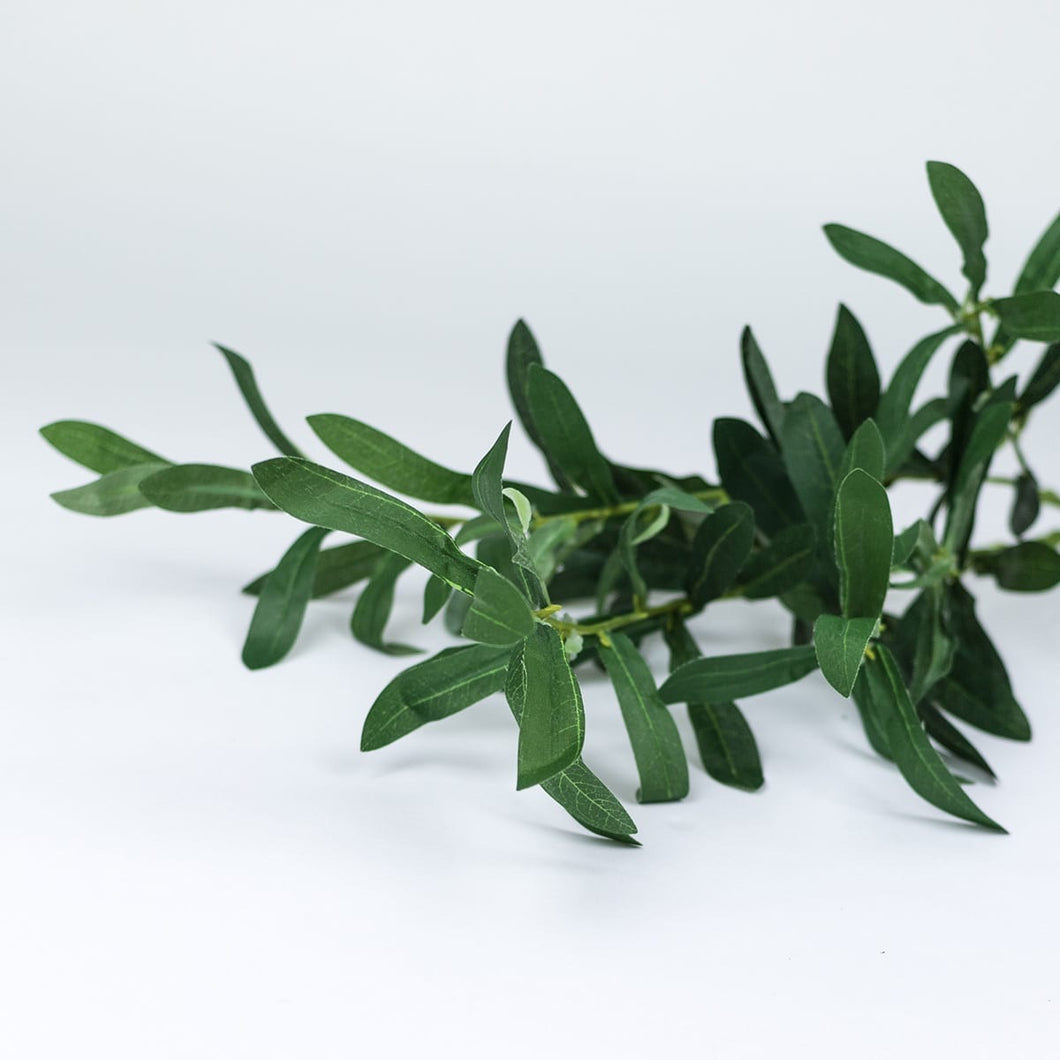 Artificial Olive Leaf Branch