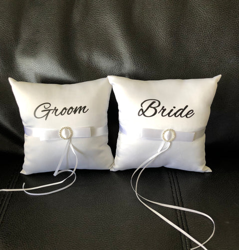 Bridal Ring Pillow Set