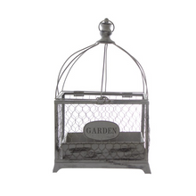Load image into Gallery viewer, Grey Antique Birdcage Lantern