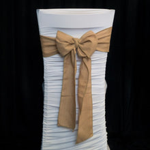 Load image into Gallery viewer, Burlap Hessian Chair Sash