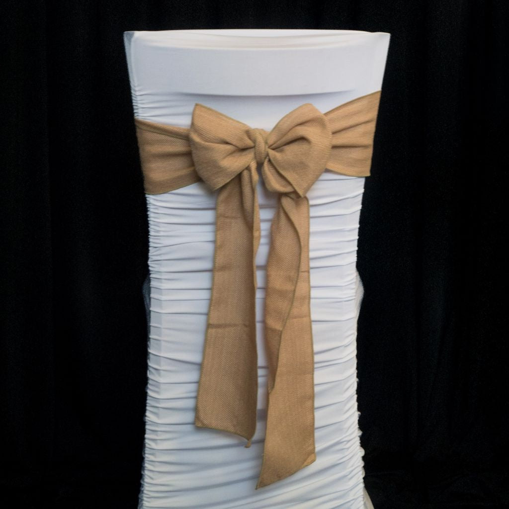 Burlap Hessian Chair Sash