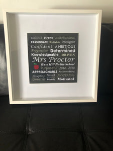 Teacher Word Art Frame