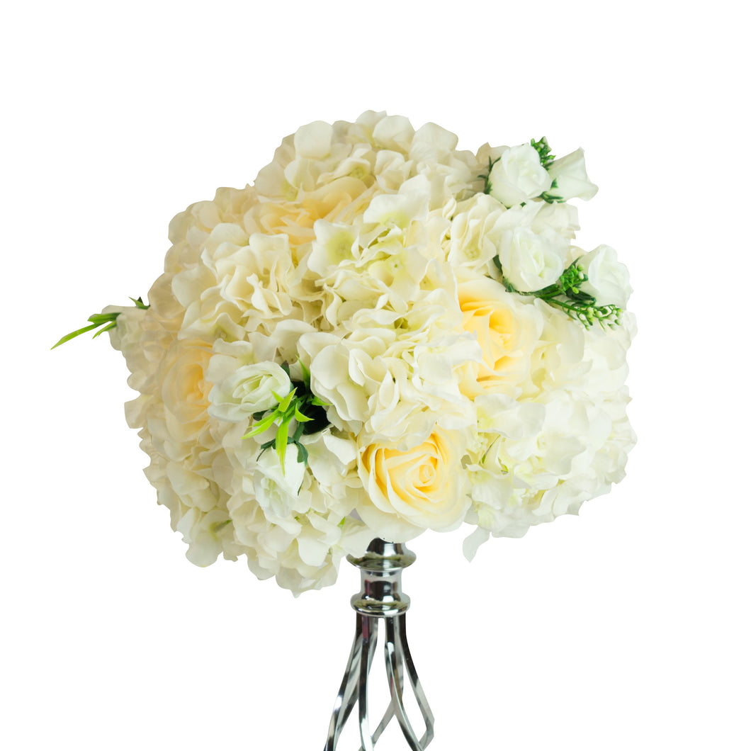 Flower Ball Centrepiece – Rose and Hydrangea