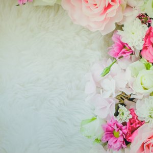 Backdrop - Mixed Floral Shaggy