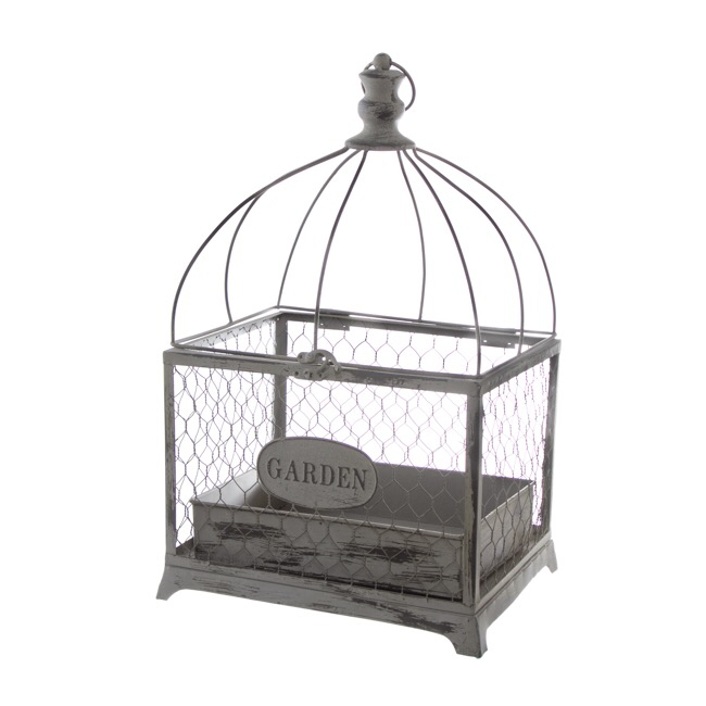 Grey Antique Birdcage Lantern