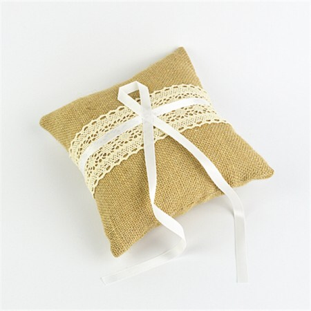 Hessian Ring Pillow