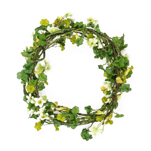 White Plum Blossom Garland Wreath