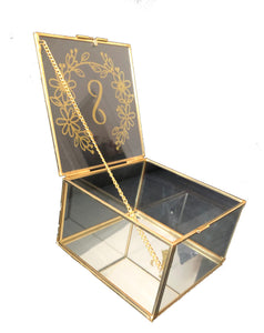 Personalised Gold Jewellery Box