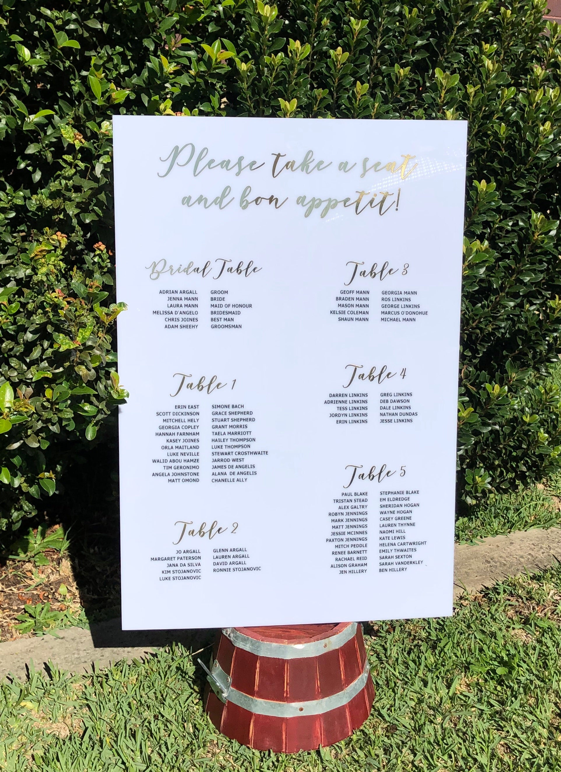 Bundle - Welcome Sign & Seating Chart