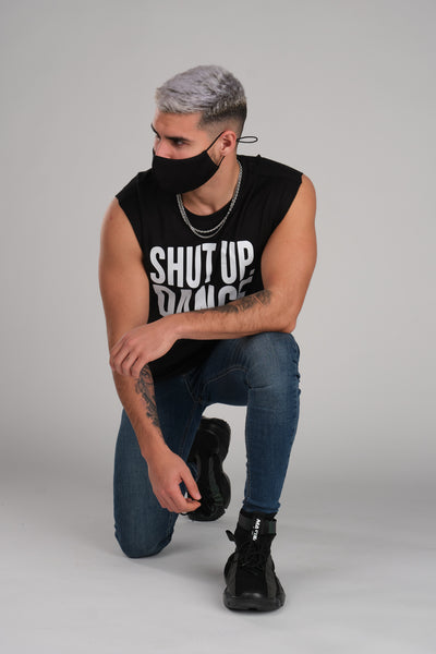 Shut Up And Dance Sleeveless Black T-Shirt