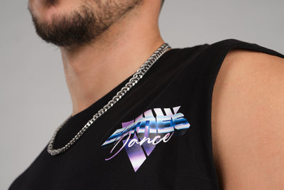 Retro Wave Ermes Dance Sleeveless Black T-Shirt