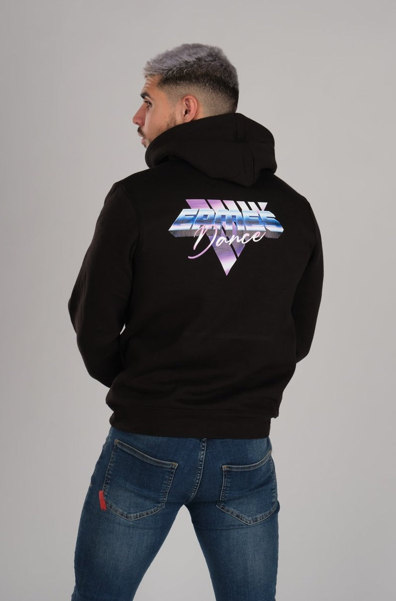 Retro Wave Ermes Dance Men's Black Hoodie