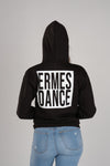 Ermes Dance Square Women's Black Hoodie