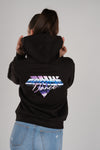 Retro Wave Ermes Dance Women's Black Hoodie