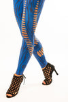 JUMPSUIT SCULPTURE BLAU ZEBRA