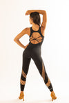 Sculpture Jumpsuit Black