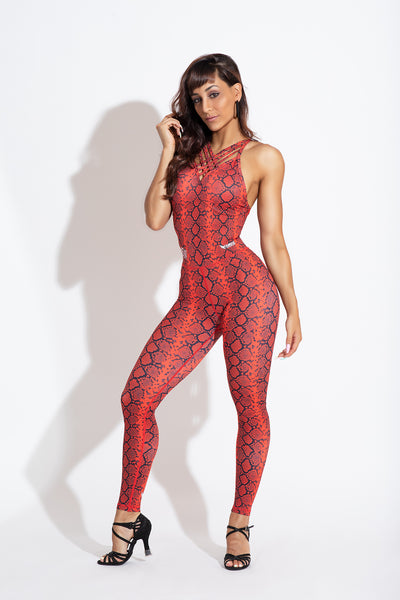 Red Snake Jumpsuit X Marco & Sara