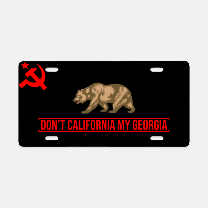 Don't California My Georgia License Plate
