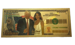 Melania/Trump Gold Novelty Bill