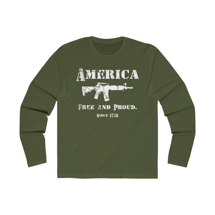 Free And Proud AR - Black & OD Green