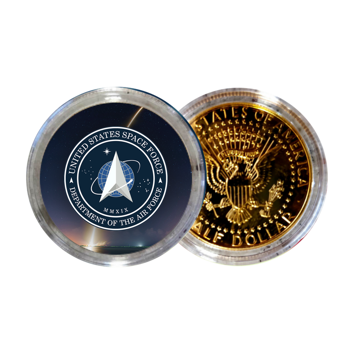 Space Force Satellite Gold JFK Half Dollar