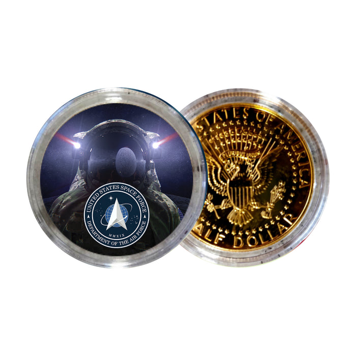 Space Force Astronaut Gold JFK Half Dollar