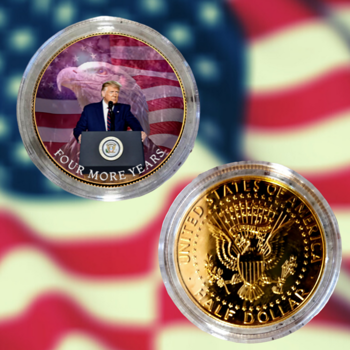 Trump Bald Eagle Gold Plated Half Dollar