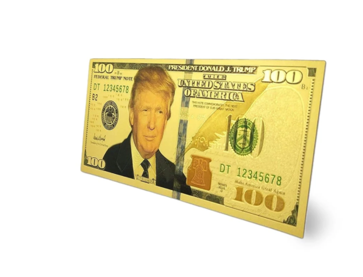 Trump $100.00 Novelty Gold Bill