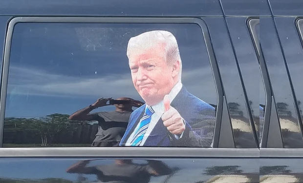 Trump Car Decal - Ride With Trump!