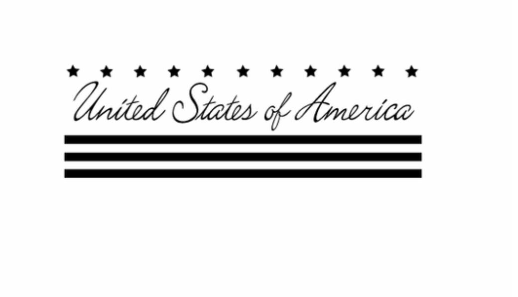 United States of America Stars and Stripes Wall Decal