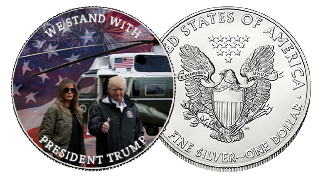 We Stand With Trump Silver Dollar