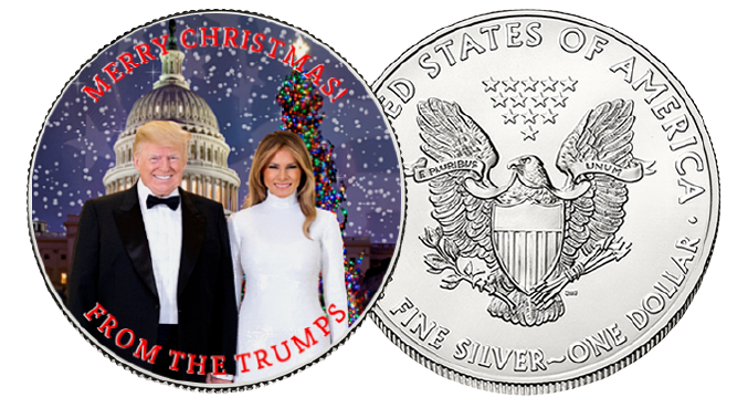 Trump's Merry Christmas Silver Dollar