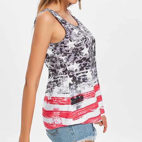 Image of American Flag Tank Top
