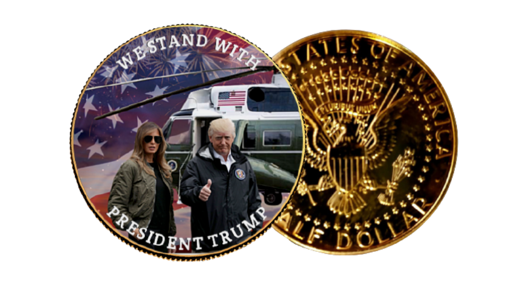 We Stand With Trump Gold Coin